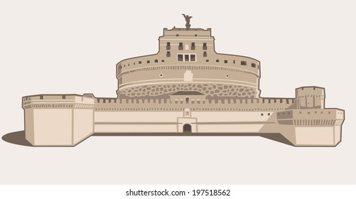 Vector Illustration of Castel Sant'Angelo