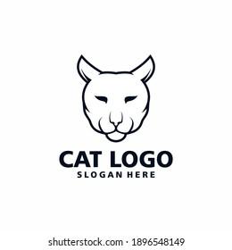 Vector illustration of cat head logo