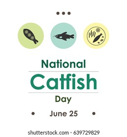 vector illustration for catfish day in June
