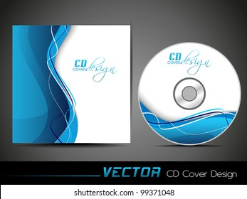 Vector illustration of CD cover design template with copy space. EPS 10, easy to edit.