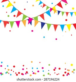 vector illustration of celebration background with bunting