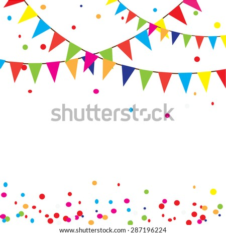 vector illustration celebration background bunting のベクター画像