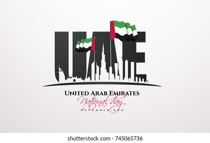 vector illustration. celebration December 2 national day of the United Arab Emirates. festive icon UAE