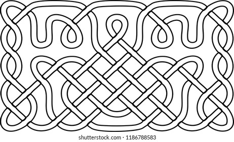 Seamless Pattern Black Electric Cables Isolated Stock Vector
