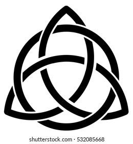 Vector illustration of a celtic symbol on white