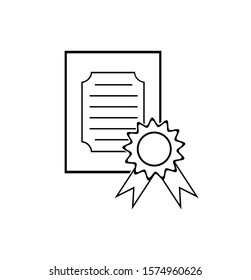 Vector illustration of a certificate icon On a white background
