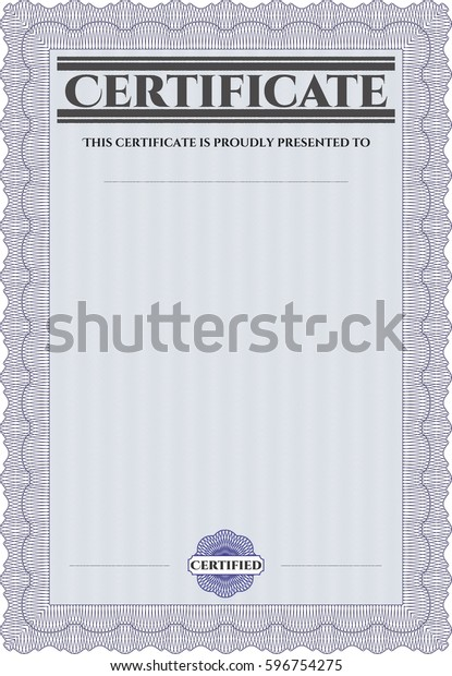 Vector illustration of certificate template icon in violet.