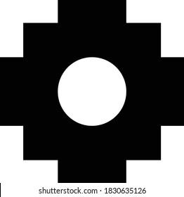 Vector illustration of the chakana Inca symbol