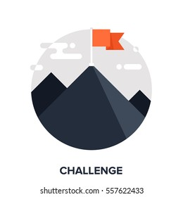 Vector illustration of challenge flat design concept