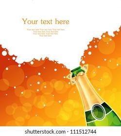Vector illustration of champagne
