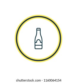 Vector illustration of champagne icon line. Beautiful cafe element also can be used as alcohol   icon element.