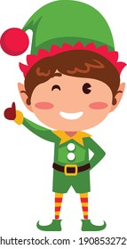 Vector illustration Character Cute Elf isolated on white background