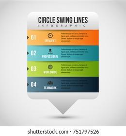 Vector illustration of Chat Balloon Bars Infographic design element.