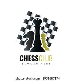 Vector illustration. Chess Club Logo design.