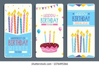 Vector Illustration for Children Birthday Party