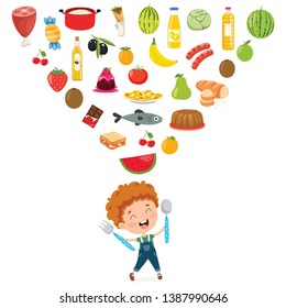 Healthy Food Cartoon Images, Stock Photos & Vectors