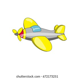 Vector illustration of children`s airplane