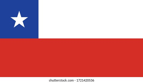 vector illustration of Chile flag