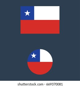 vector illustration of Chile flag sign symbol