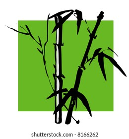 vector illustration for China traditional ink painting --bamboo, special for new year, means growth, improve.