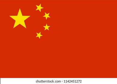 Vector illustration of Chinese national flag