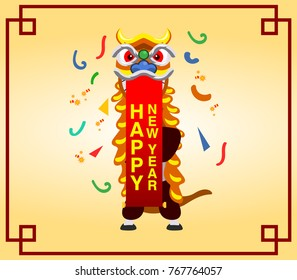 Vector illustration of Chinese new year greeting card