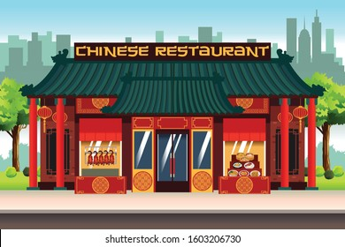 A vector illustration of Chinese Restaurant