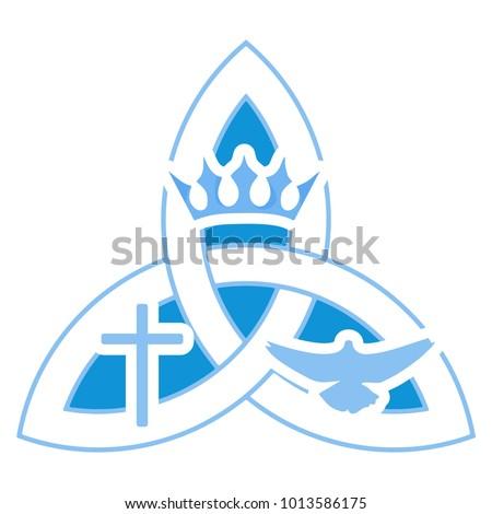 Vector Illustration Christian Community Holy Trinity Stockvector