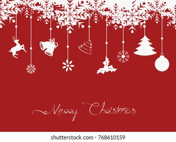 Vector illustration of Christmas background with christmas elements
