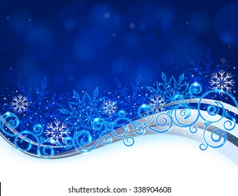 Vector illustration of Christmas background. Objects are layered, easy to edit.