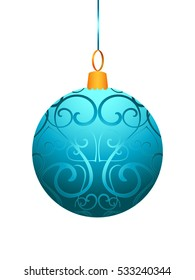Vector illustration of christmas ball isolated on white