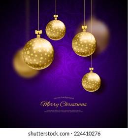 Vector illustration of Christmas balls