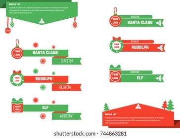 Vector Illustration of Christmas Lower Thirds for Design, Website, Background, Banner. Titles Element Template