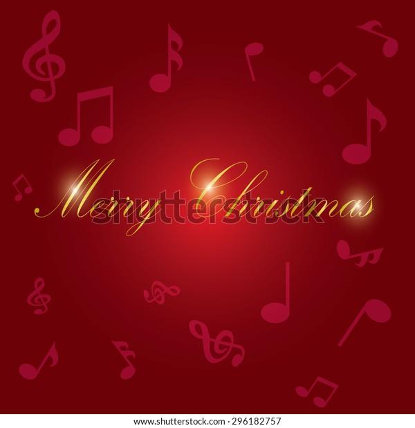Christmas Music Background.Vector Illustration Christmas Music Background Stock Vector