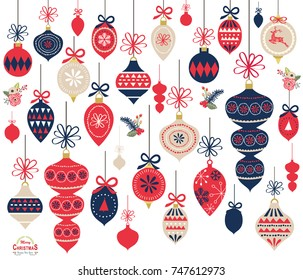 Vector Illustration of Christmas Ornament Elements
