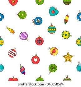 Vector illustration Christmas pattern