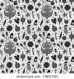 Vector illustration of Christmas pattern