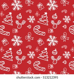 Vector Illustration of Christmas pattern with white snowflakes changeable color background