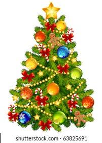 Vector illustration - Christmas tree