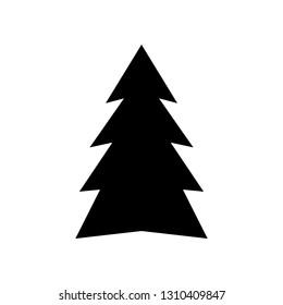 Christmas Tree Vector Black Stock Illustrations Images Vectors