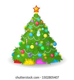 Vector illustration. Christmas tree. EPS 10