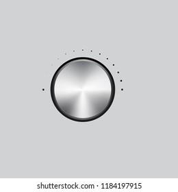 Vector illustration of chromium volume knob