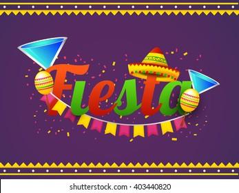 Vector illustration of Cinco De Mayo fiesta celebration typography background.