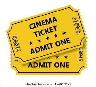 Vector illustration of cinema tickets
