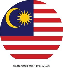 vector illustration of Circle flag of Malaysia