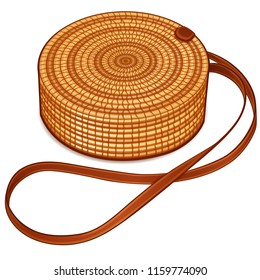 Vector illustration of circle hand bag design