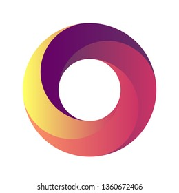 Vector illustration of a circle for the logo. background, poster, cover, banner, placard