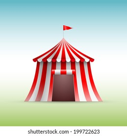 Vector illustration of circus tent.