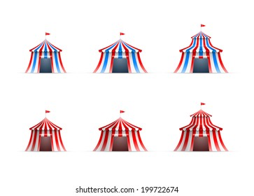 Vector illustration of circus tent collection.