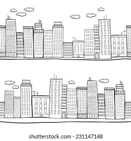 Vector illustration of city buildings
